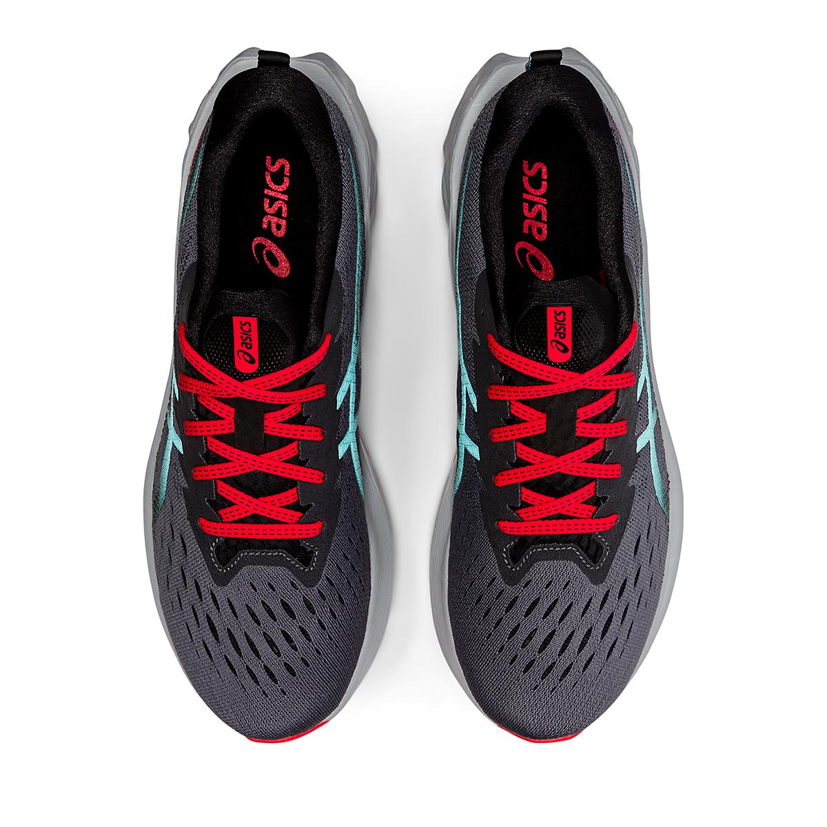 Men's Asics Novablast 2 Running Shoe - Color: Metropolis/Clear Blue - Size: 6 - Width: Regular, Metropolis/Clear Blue, large, image 5