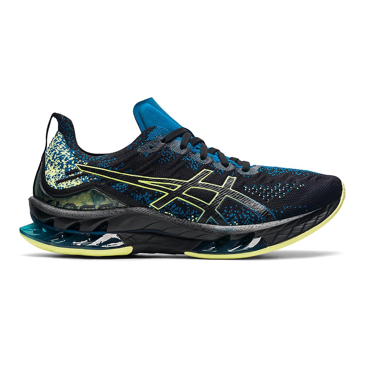Men's Asics Kinsei Blast Running Shoe - Color: Black/Glow Yellow - Size: 6 - Width: Regular, Black/Glow Yellow, large, image 1