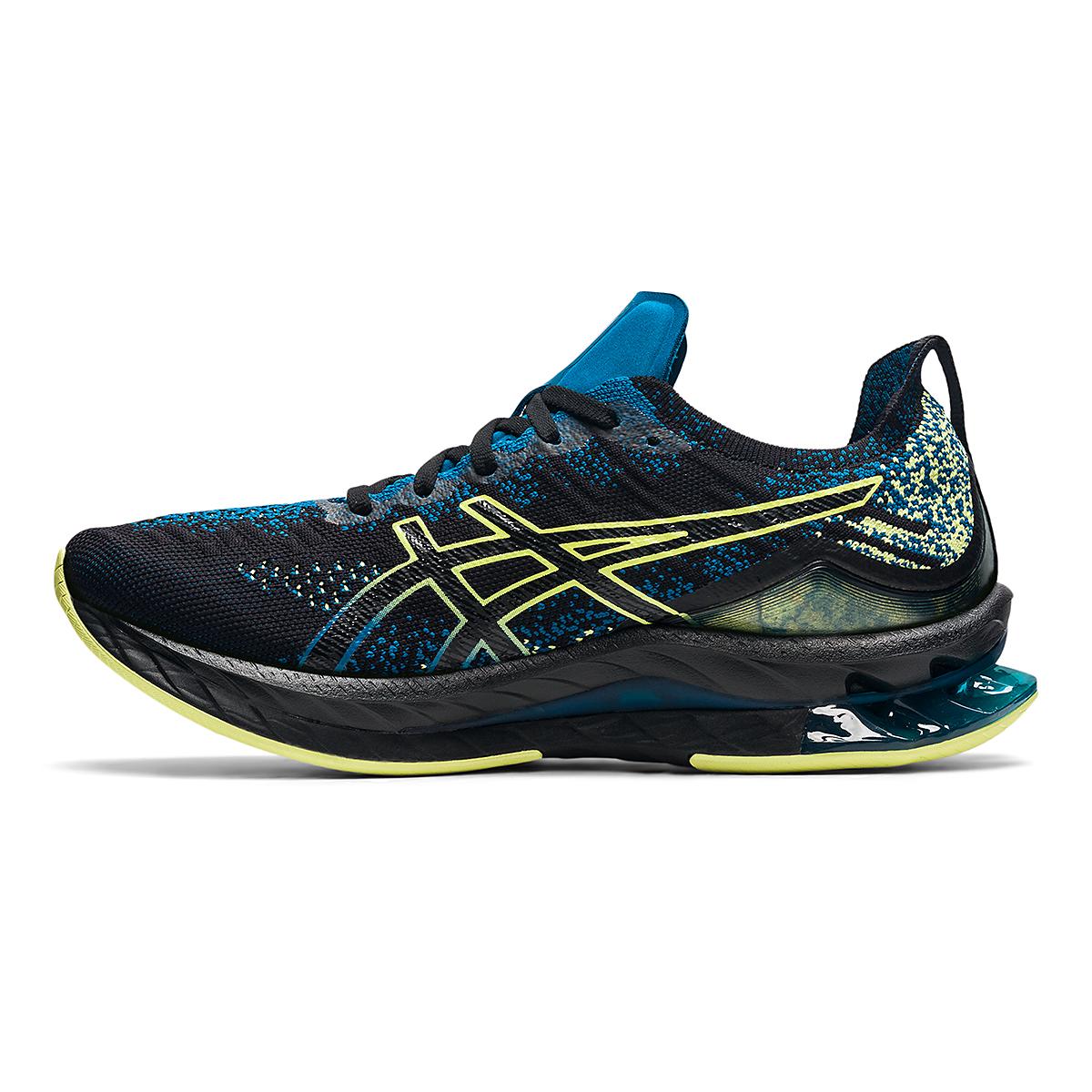 Men's Asics Kinsei Blast Running Shoe - Color: Black/Glow Yellow - Size: 6 - Width: Regular, Black/Glow Yellow, large, image 2