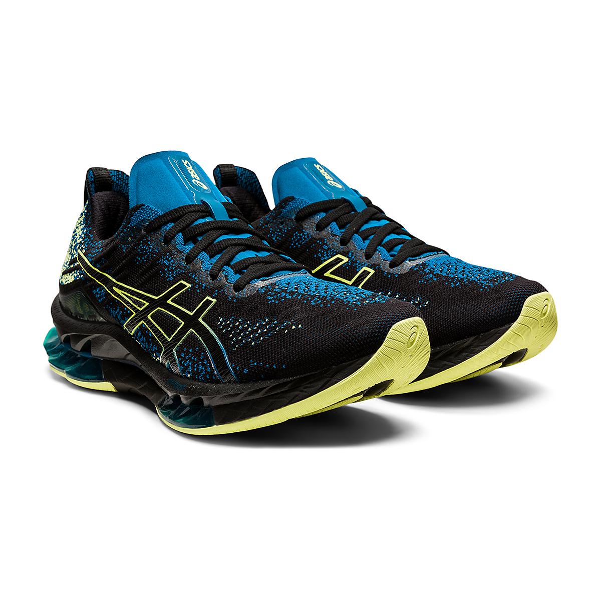 Men's Asics Kinsei Blast Running Shoe - Color: Black/Glow Yellow - Size: 6 - Width: Regular, Black/Glow Yellow, large, image 3