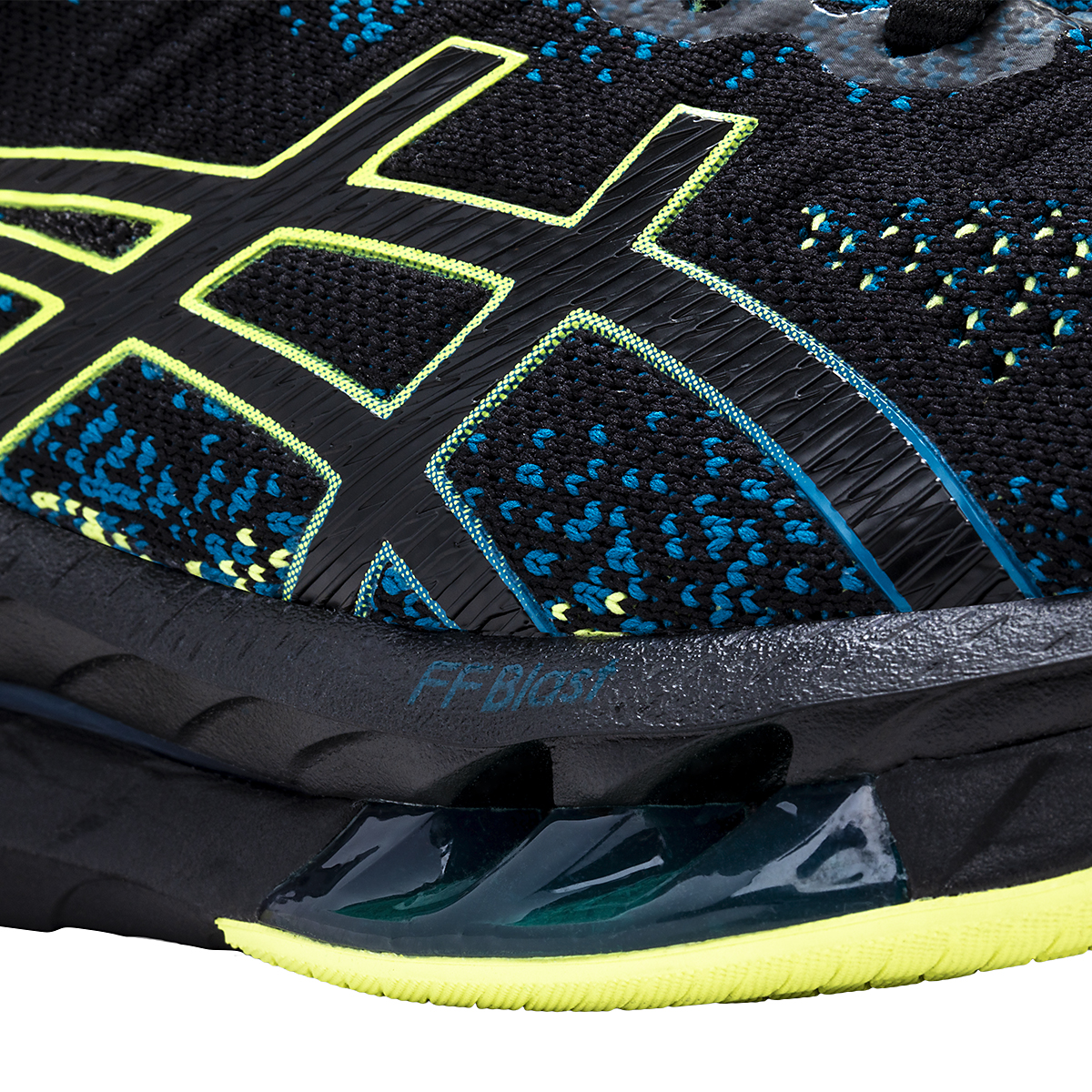 Men's Asics Kinsei Blast Running Shoe - Color: Black/Glow Yellow - Size: 6 - Width: Regular, Black/Glow Yellow, large, image 4