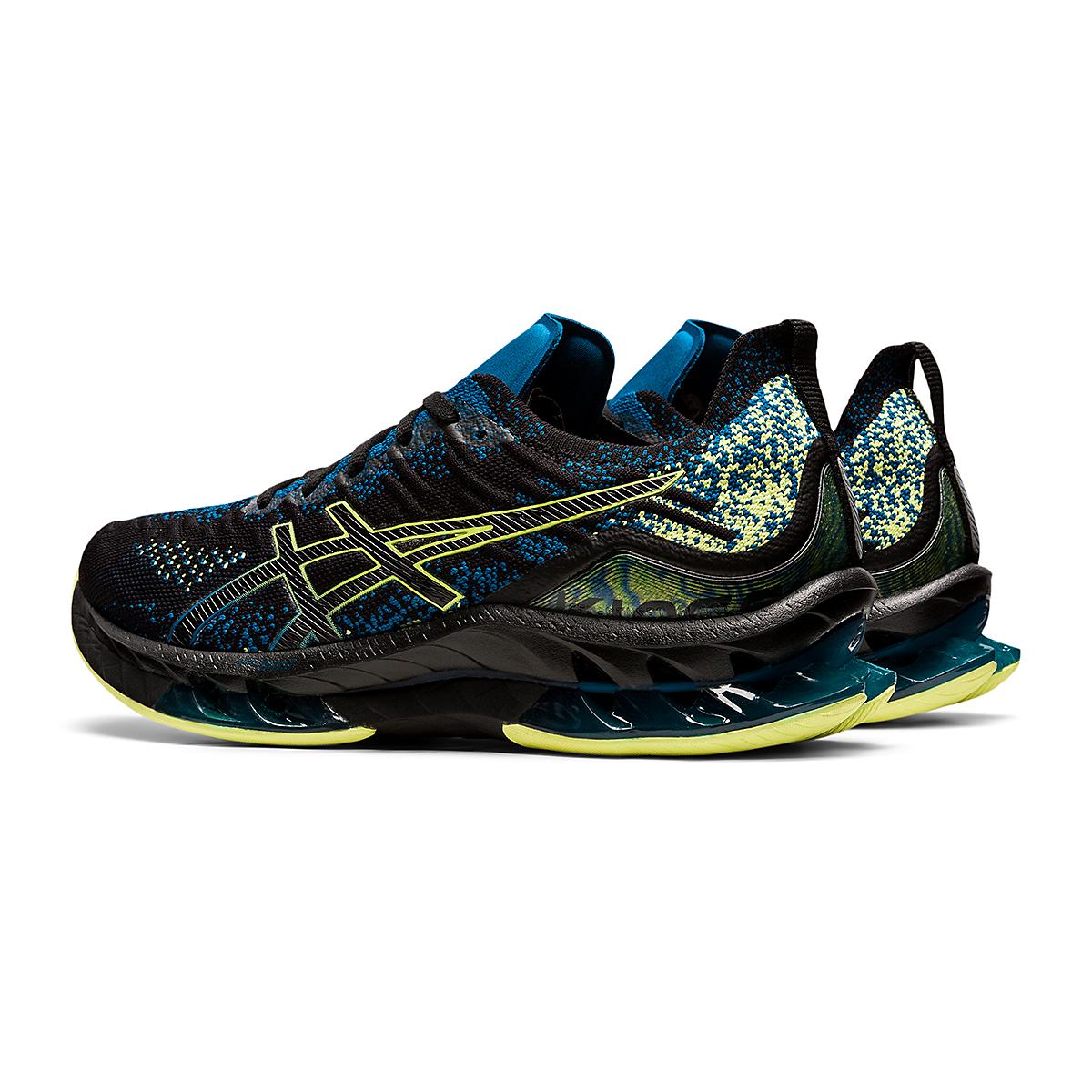 Men's Asics Kinsei Blast Running Shoe - Color: Black/Glow Yellow - Size: 6 - Width: Regular, Black/Glow Yellow, large, image 5