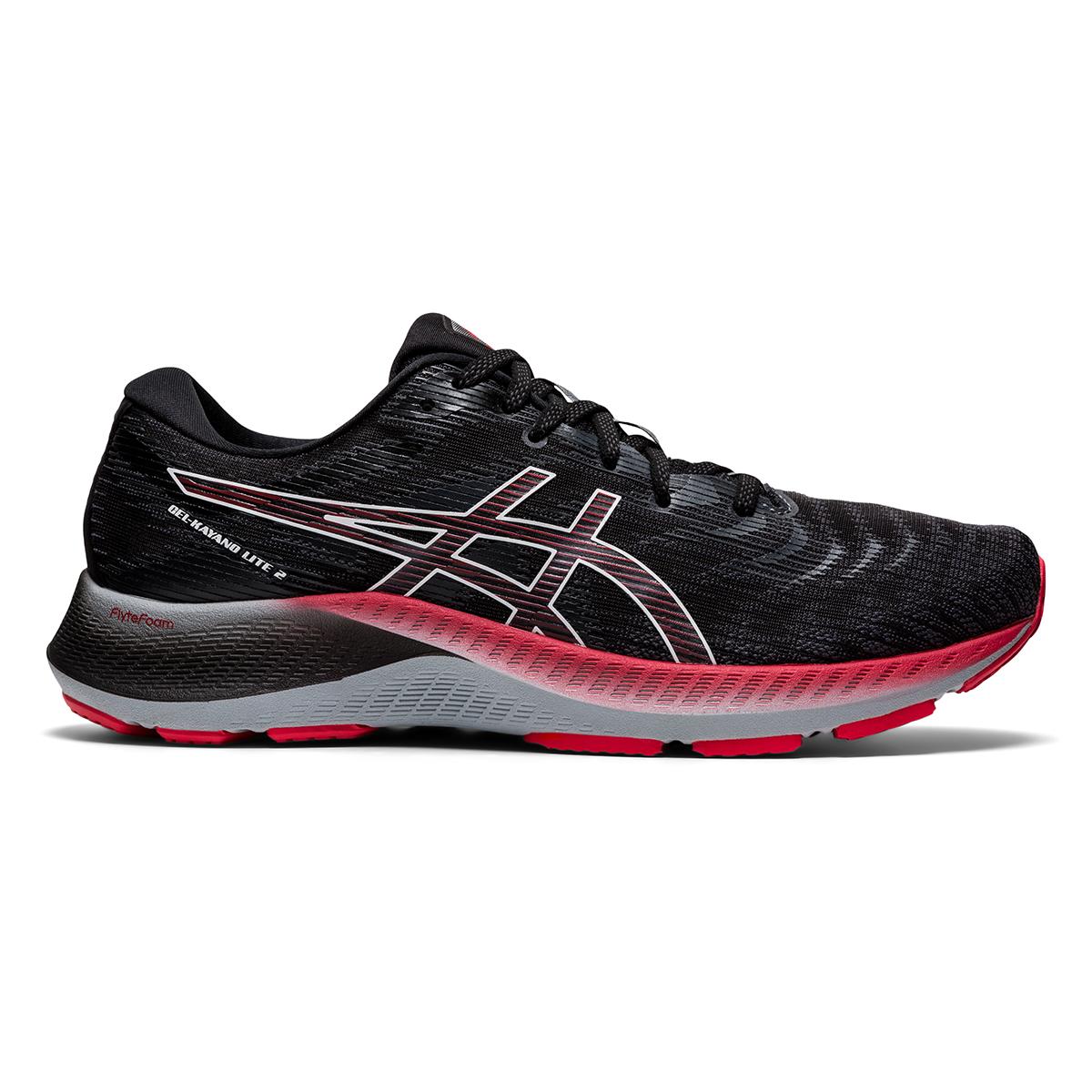Men's Asics Gel-Kayano Lite 2 Running Shoe - Color: Black/White - Size: 7 - Width: Regular, Black/White, large, image 1