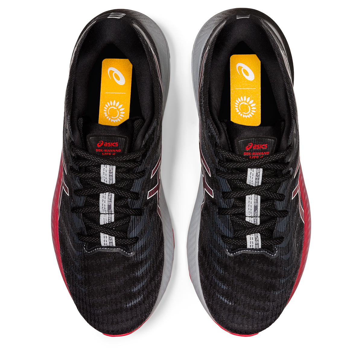 Men's Asics Gel-Kayano Lite 2 Running Shoe - Color: Black/White - Size: 7 - Width: Regular, Black/White, large, image 3