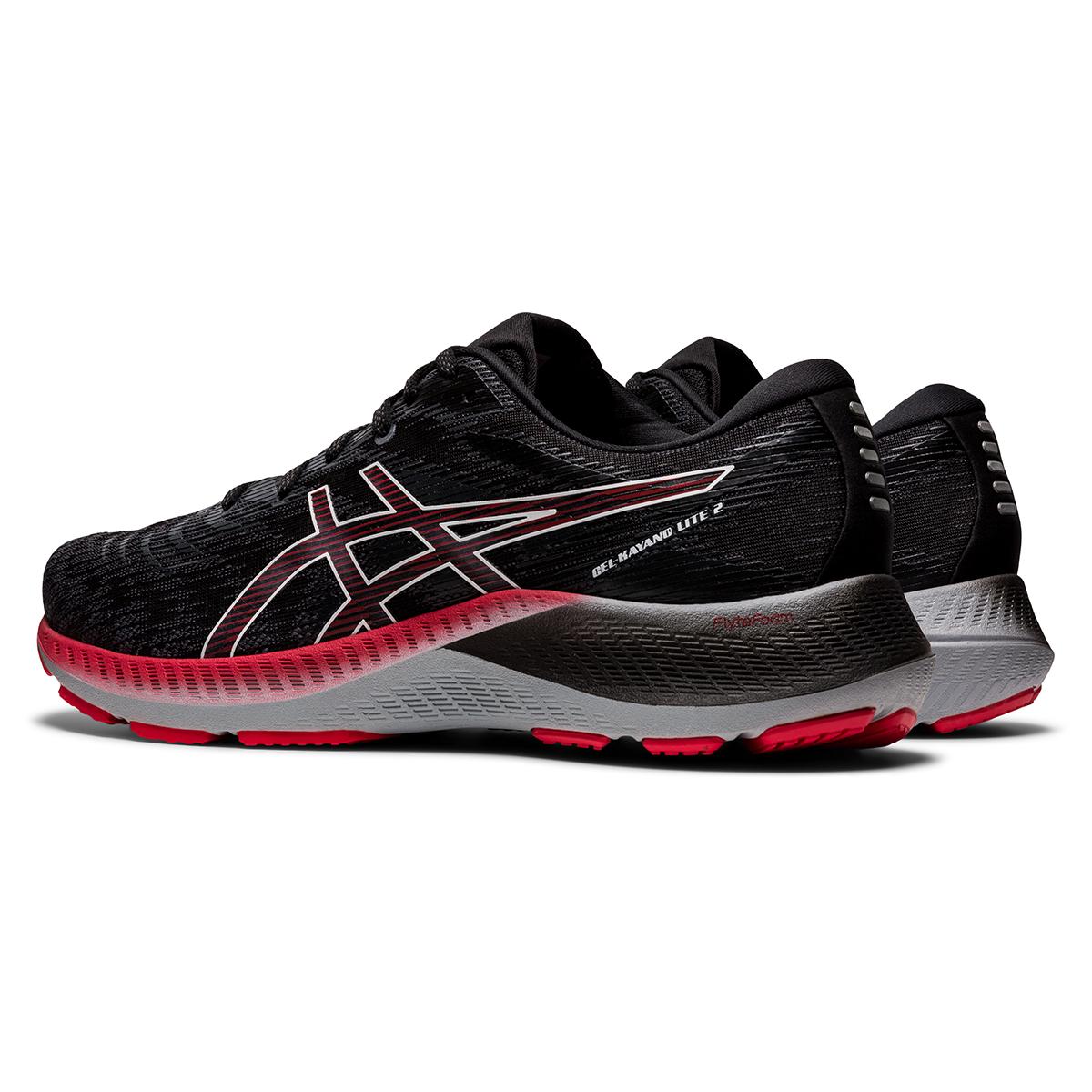 Men's Asics Gel-Kayano Lite 2 Running Shoe - Color: Black/White - Size: 7 - Width: Regular, Black/White, large, image 6