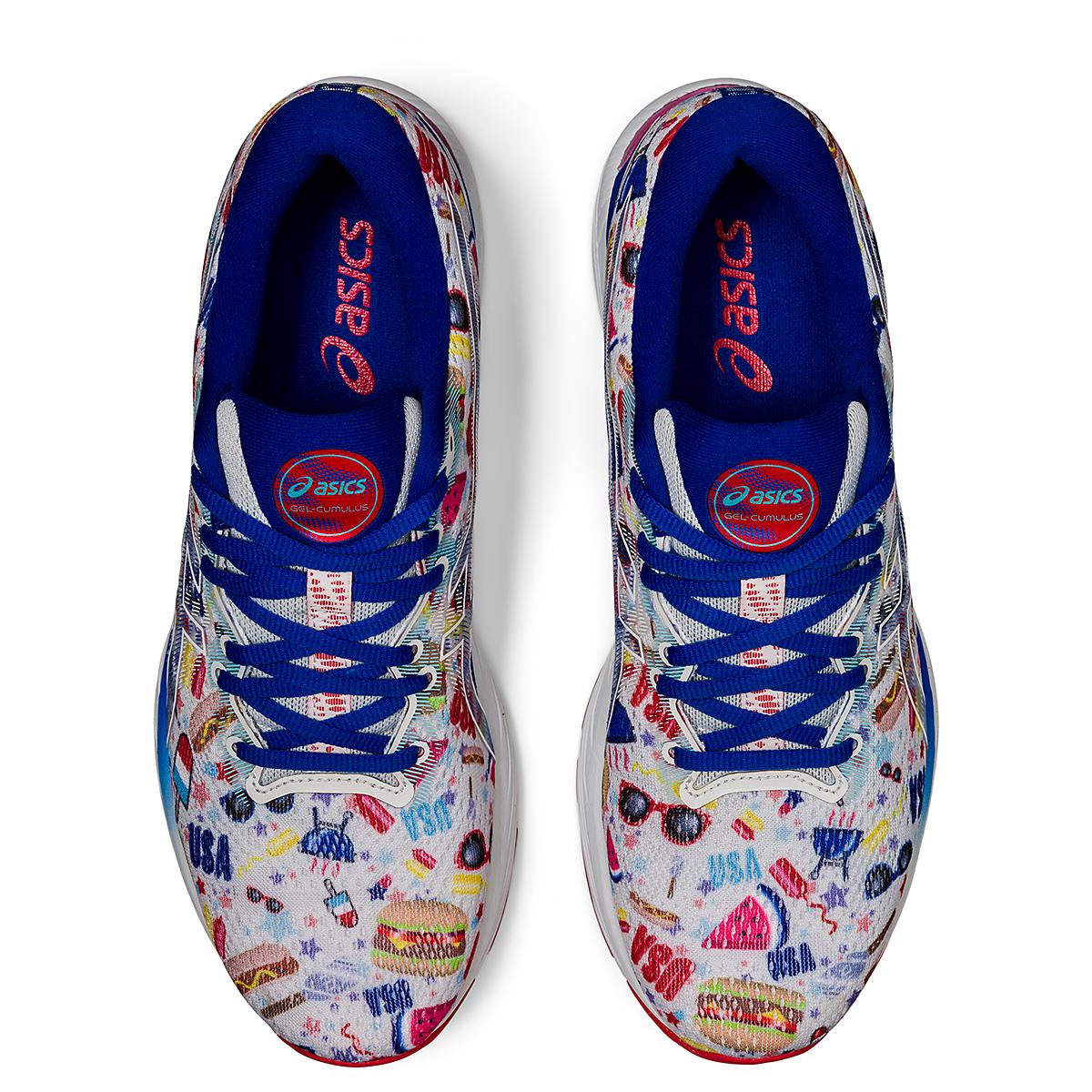 Men's Asics Gel-Cumulus 23 Cookout Running Shoe - Color: Polar Shade/White - Size: 6 - Width: Regular, Polar Shade/White, large, image 6