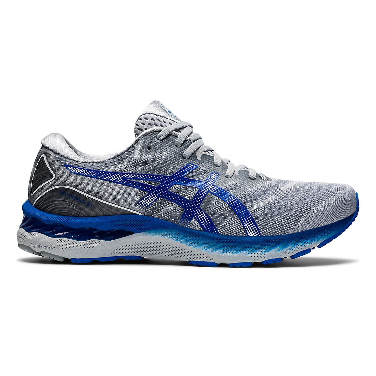 Men's Asics Gel-Nimbus 23 Running Shoe - Color: Piedmont Grey - Size: 6 - Width: Regular, Piedmont Grey, large, image 1
