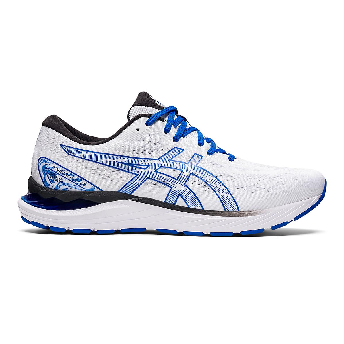Men's Asics SMU Gel-Cumulus 23 Running Shoe - Color: White/Tuna Blue - Size: 6 - Width: Regular, White/Tuna Blue, large, image 1
