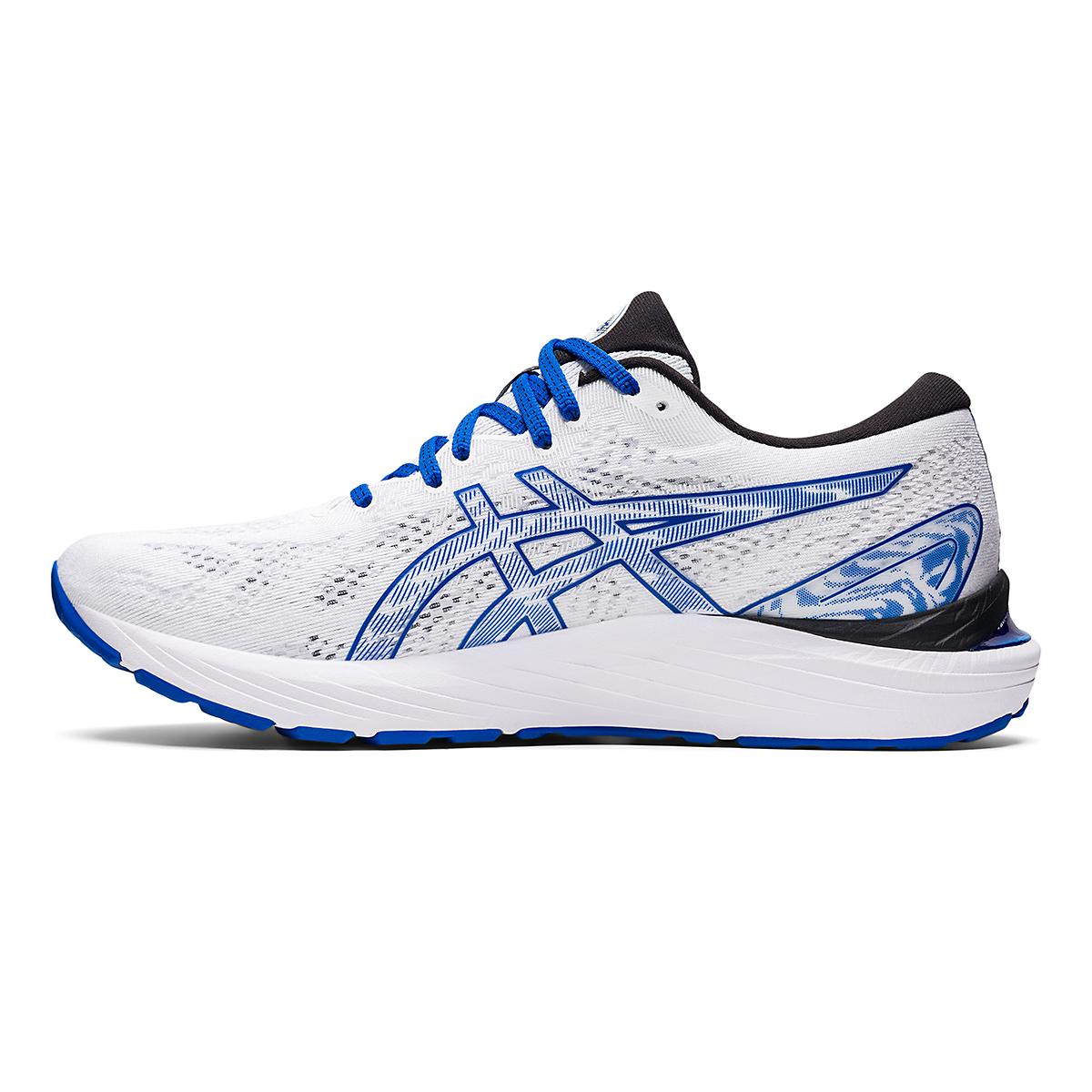 Men's Asics SMU Gel-Cumulus 23 Running Shoe - Color: White/Tuna Blue - Size: 6 - Width: Regular, White/Tuna Blue, large, image 2