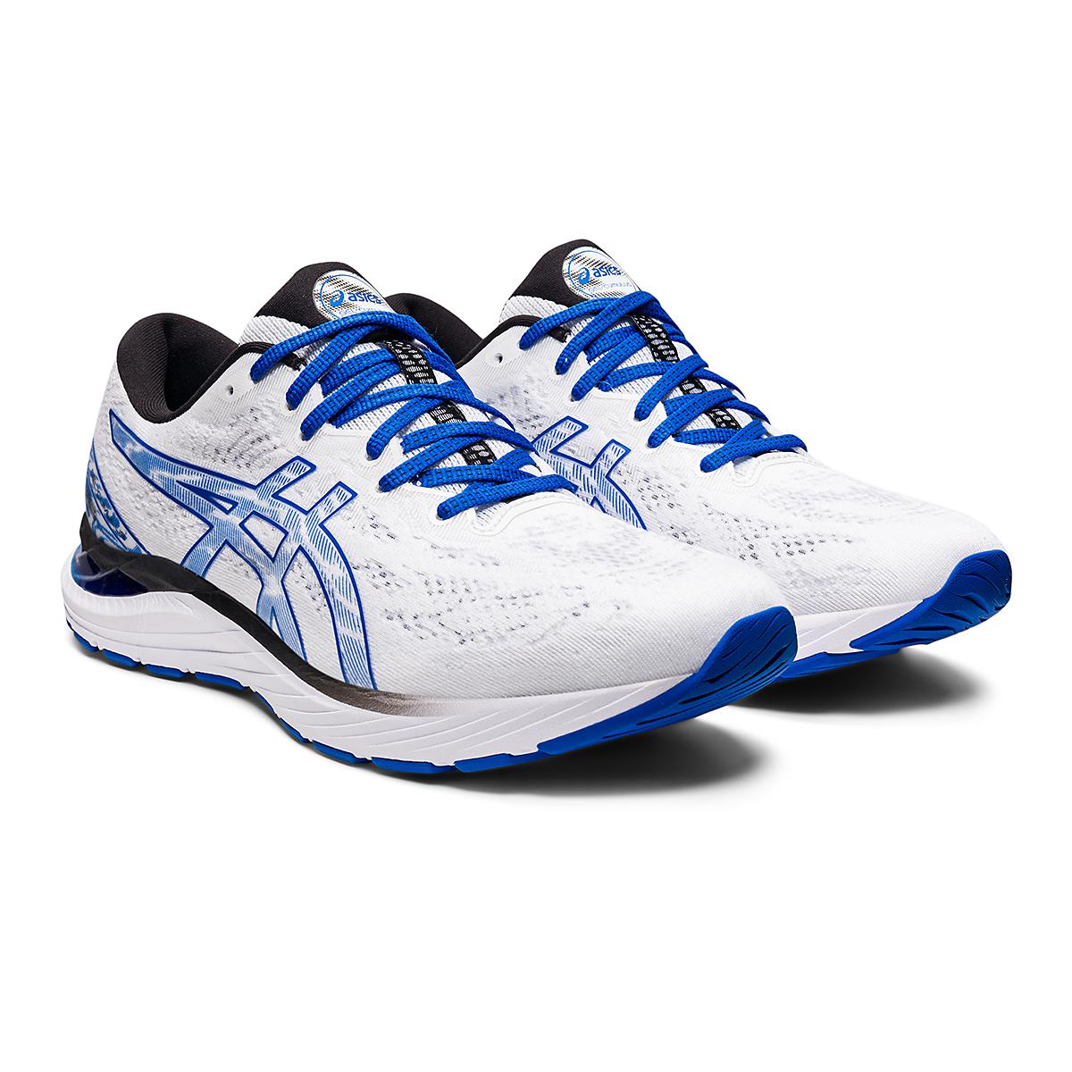 Men's Asics SMU Gel-Cumulus 23 Running Shoe - Color: White/Tuna Blue - Size: 6 - Width: Regular, White/Tuna Blue, large, image 3