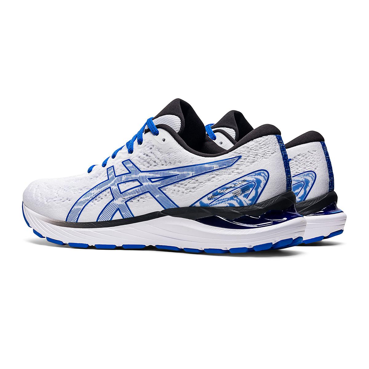 Men's Asics SMU Gel-Cumulus 23 Running Shoe - Color: White/Tuna Blue - Size: 6 - Width: Regular, White/Tuna Blue, large, image 4