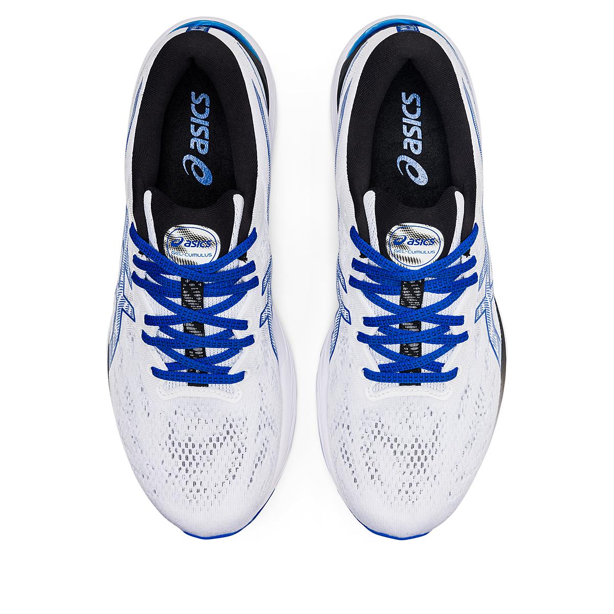 Men's Asics SMU Gel-Cumulus 23 Running Shoe - Color: White/Tuna Blue - Size: 6 - Width: Regular, White/Tuna Blue, large, image 6
