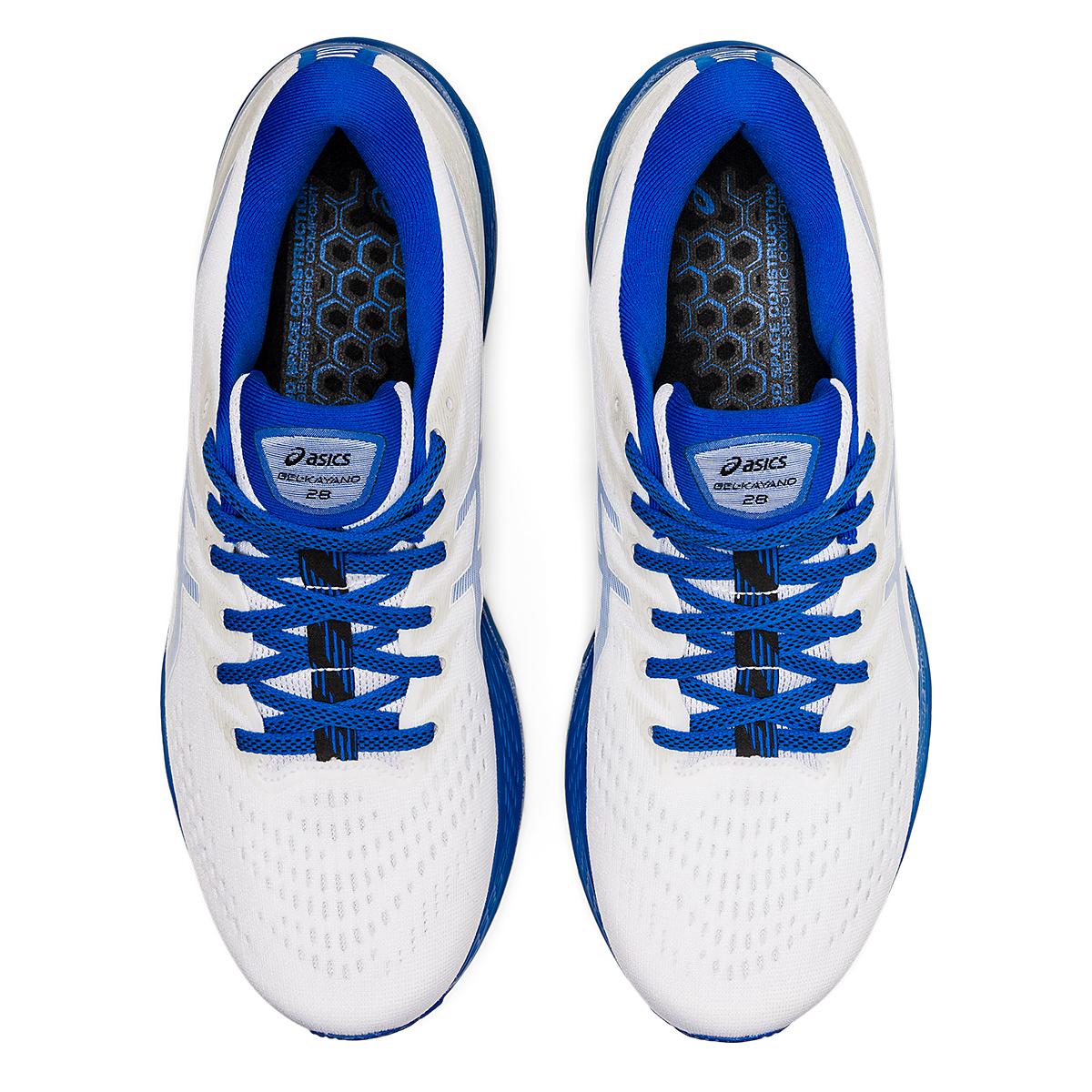 Men's Asics Gel-Kayano 28 Running Shoe - Color: White/Tuna Blue - JackRabbit Exclusive - Size: 6.5 - Width: Regular, White/Tuna Blue - JackRabbit Exclusive, large, image 6