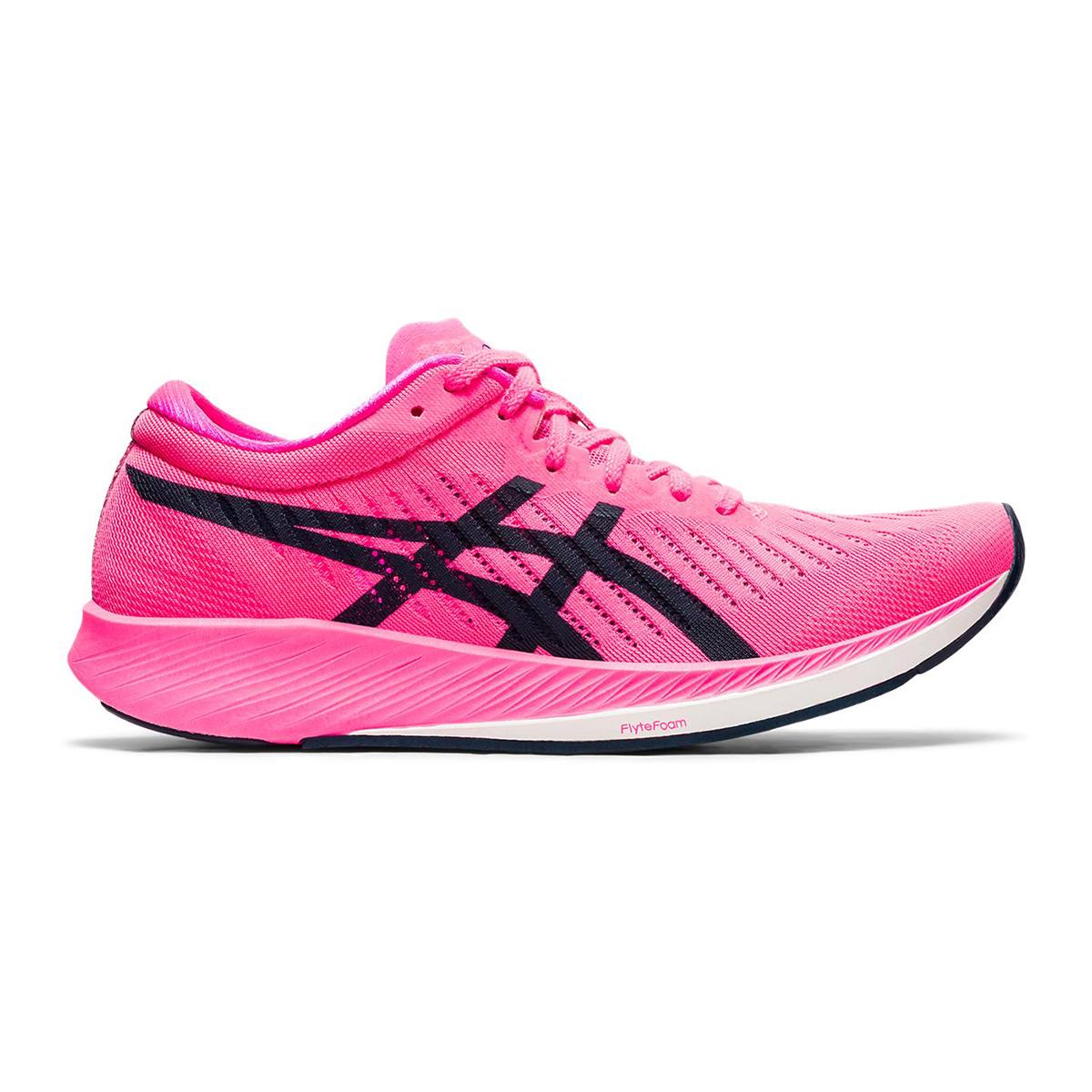 Women's Asics Metaracer Running Shoe - Color: Hot Pink/French Blue - Size: 5 - Width: Regular, Hot Pink/French Blue, large, image 1