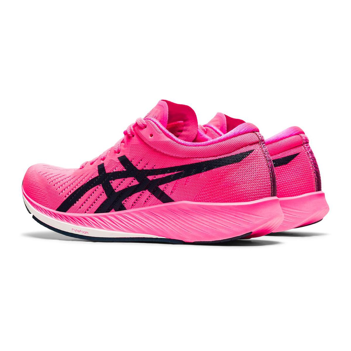Women's Asics Metaracer Running Shoe - Color: Hot Pink/French Blue - Size: 5 - Width: Regular, Hot Pink/French Blue, large, image 4