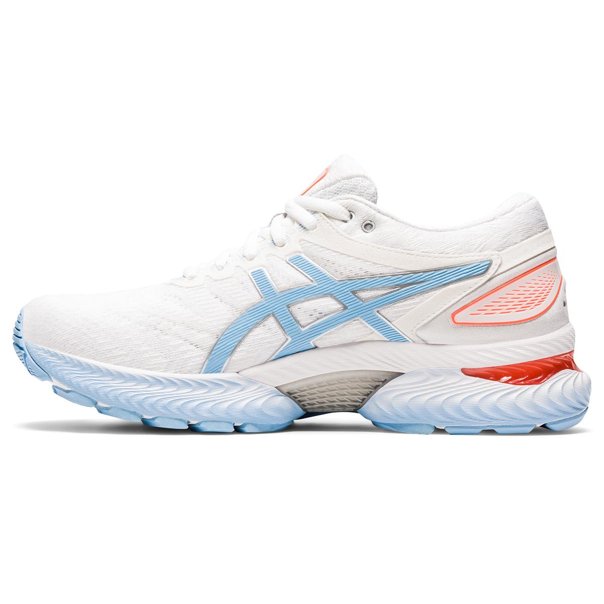 Women's Asics Gel-Nimbus 22 Running Shoe - Color: White/Blue Bliss - Size: 5 - Width: Regular, White/Blue Bliss, large, image 2