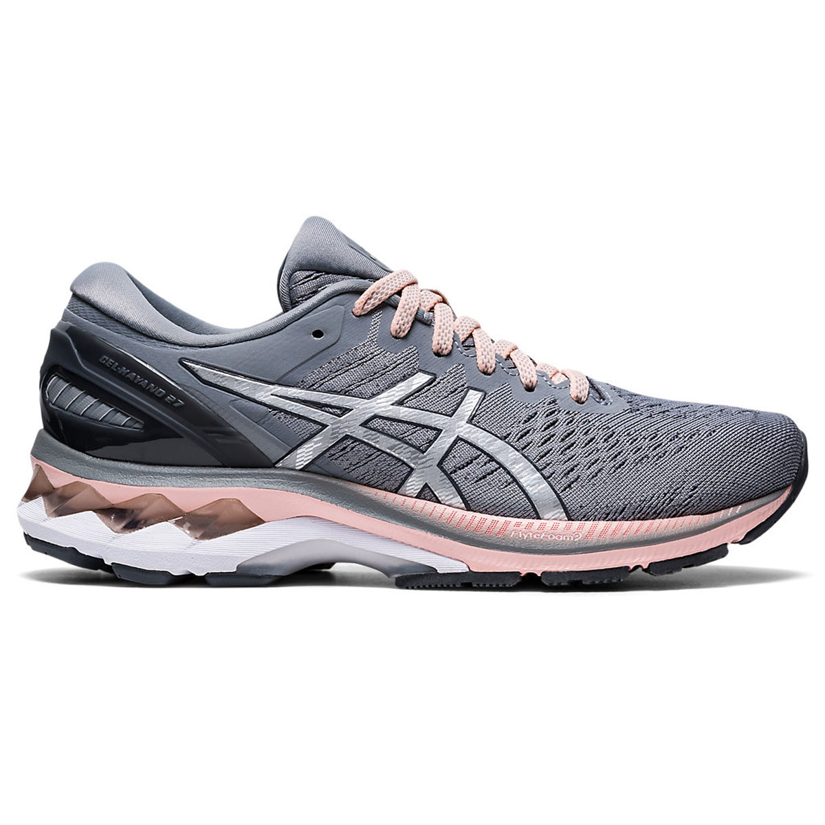 Women's Asics GEL-Kayano 27 Running Shoe - Color: Sheet Rock/Pure (Regular Width) - Size: 5, Sheet Rock/Pure, large, image 1