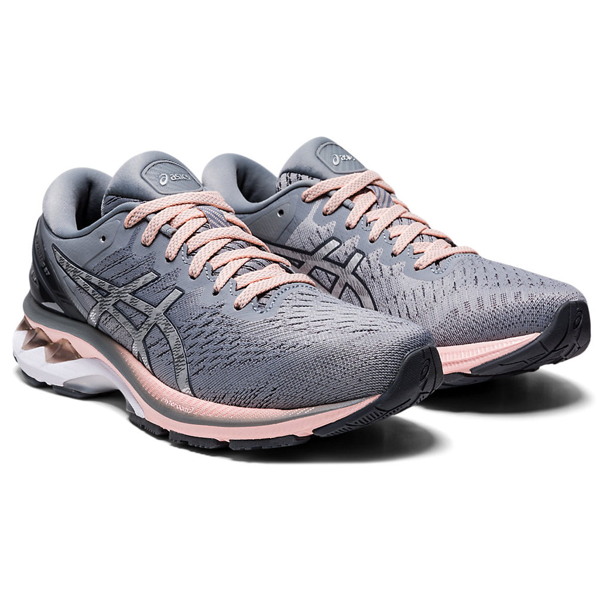 Women's Asics GEL-Kayano 27 Running Shoe - Color: Sheet Rock/Pure (Regular Width) - Size: 5, Sheet Rock/Pure, large, image 3