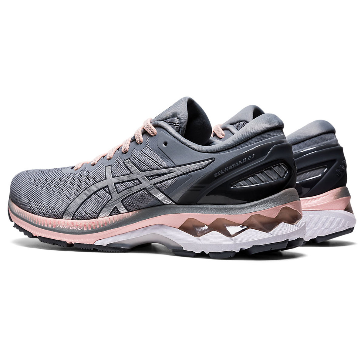 Women's Asics GEL-Kayano 27 Running Shoe - Color: Sheet Rock/Pure (Regular Width) - Size: 5, Sheet Rock/Pure, large, image 4