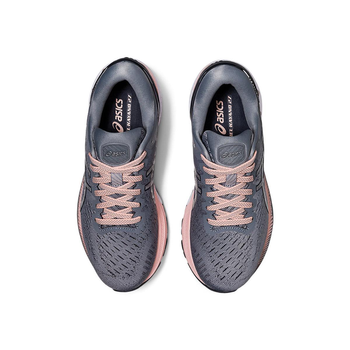 Women's Asics GEL-Kayano 27 Running Shoe - Color: Sheet Rock/Pure (Regular Width) - Size: 5, Sheet Rock/Pure, large, image 6