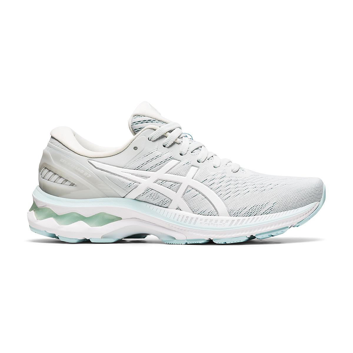 Women's Asics GEL-Kayano 27 Running Shoe - Color: Glacier Grey/White - Size: 6 - Width: Regular, Glacier Grey/White, large, image 1