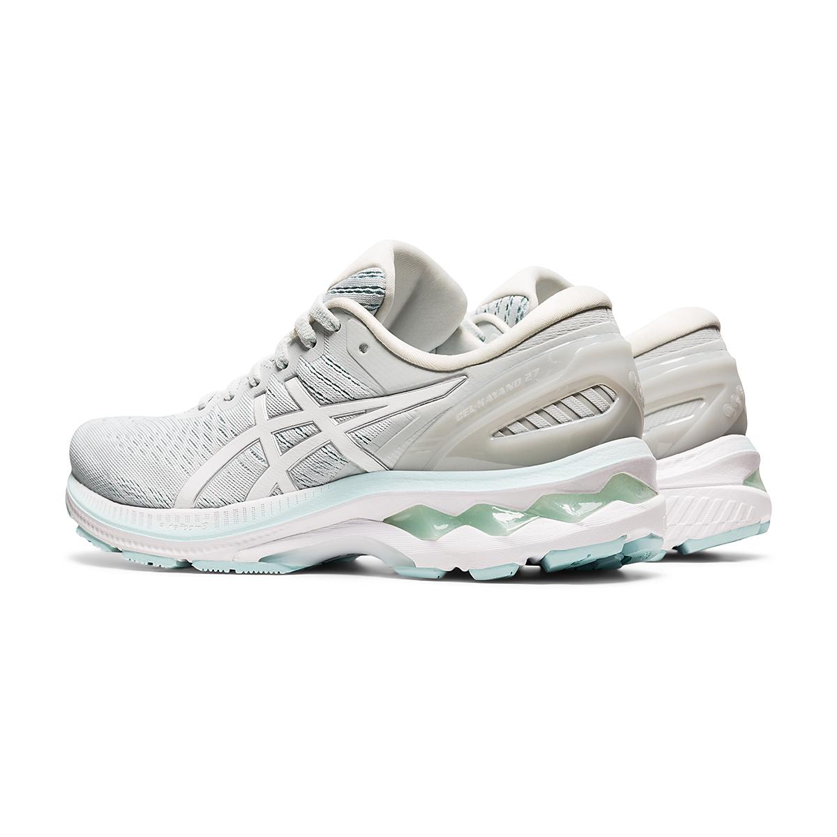 Women's Asics GEL-Kayano 27 Running Shoe - Color: Glacier Grey/White - Size: 6 - Width: Regular, Glacier Grey/White, large, image 4