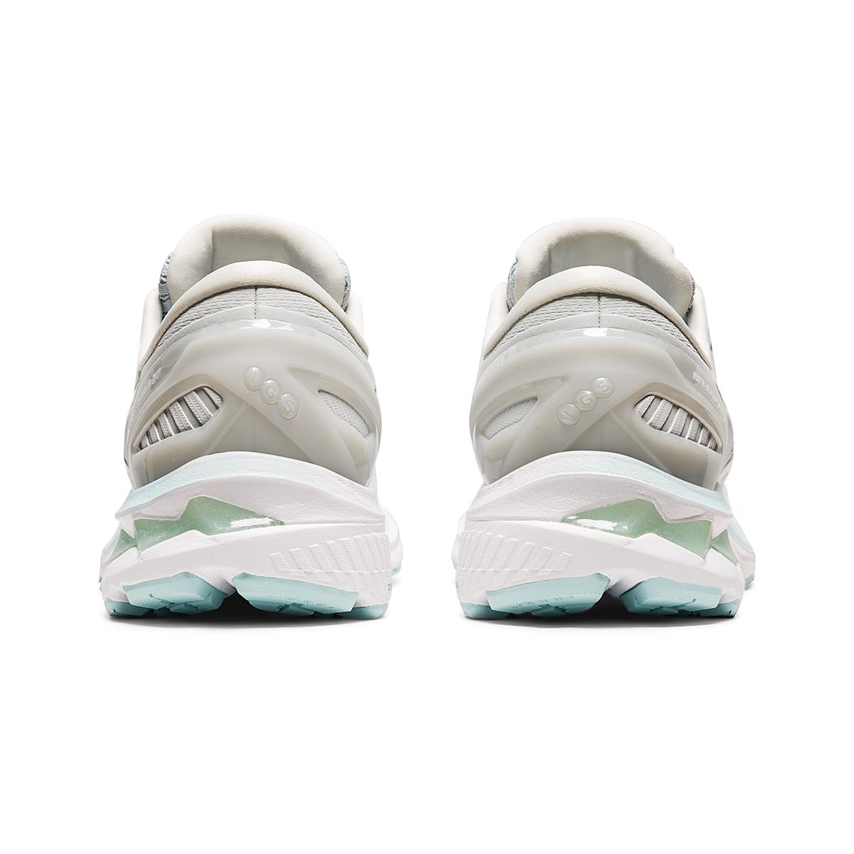 Women's Asics GEL-Kayano 27 Running Shoe - Color: Glacier Grey/White - Size: 6 - Width: Regular, Glacier Grey/White, large, image 6