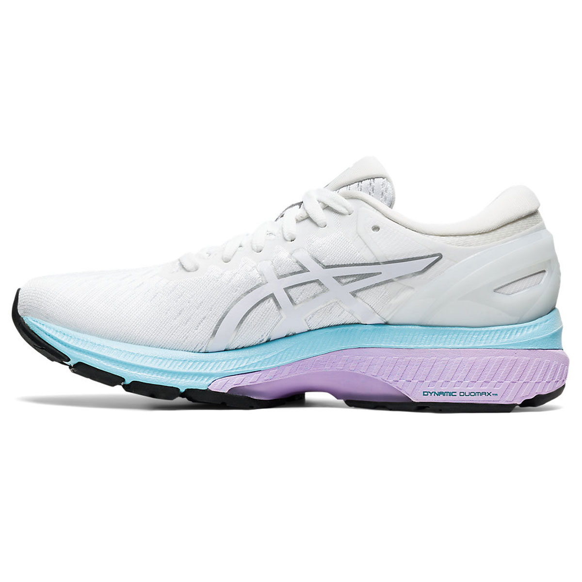 Women's Asics GEL-Kayano 27 Running Shoe - Color: White/Pure Silv (Regular Width) - Size: 5, White/Pure Silver, large, image 2