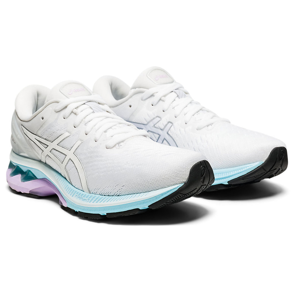 Women's Asics GEL-Kayano 27 Running Shoe - Color: White/Pure Silv (Regular Width) - Size: 5, White/Pure Silver, large, image 3