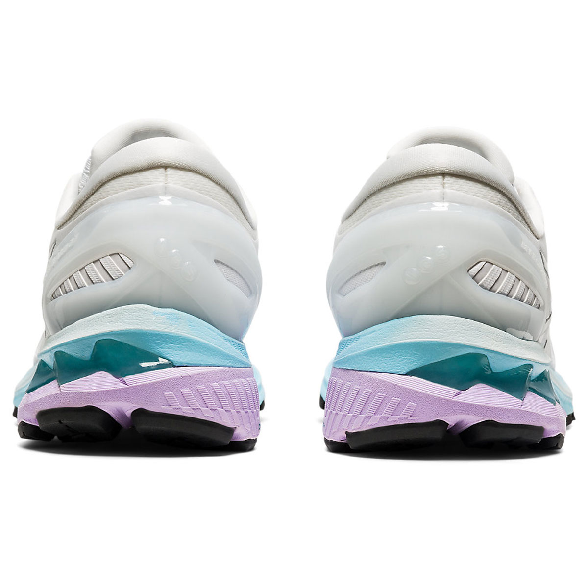 Women's Asics GEL-Kayano 27 Running Shoe - Color: White/Pure Silv (Regular Width) - Size: 5, White/Pure Silver, large, image 5