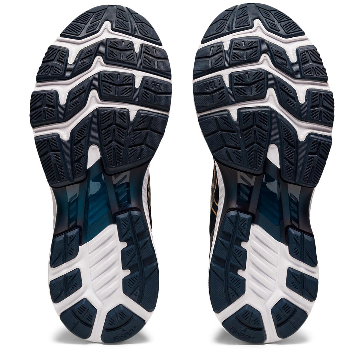 Women's Asics Gel-Kayano 27 Running Shoe - Color: French Blue/Black/Orange - Size: 5 - Width: Regular, French Blue/Black/Orange, large, image 3