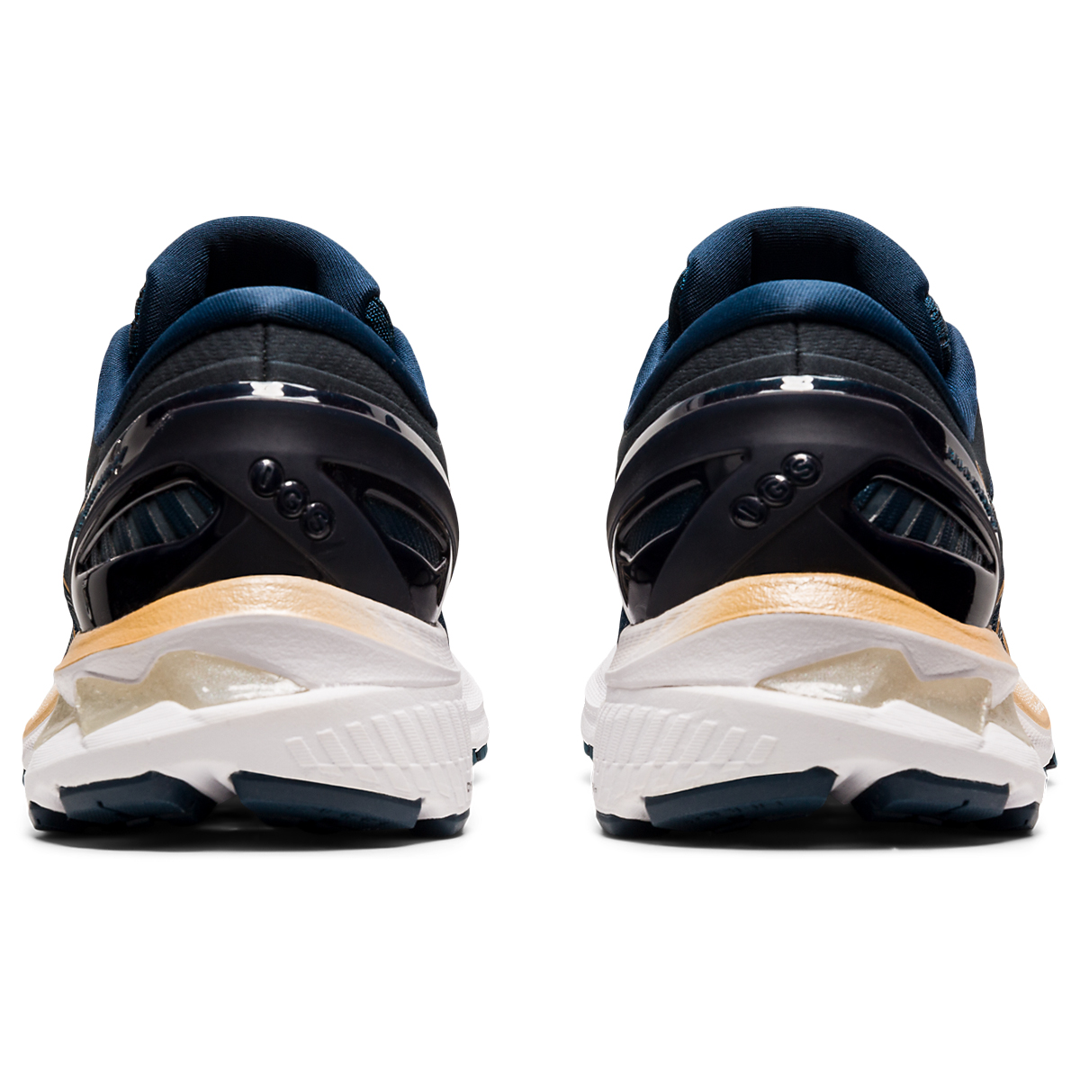 Women's Asics Gel-Kayano 27 Running Shoe - Color: French Blue/Black/Orange - Size: 5 - Width: Regular, French Blue/Black/Orange, large, image 5
