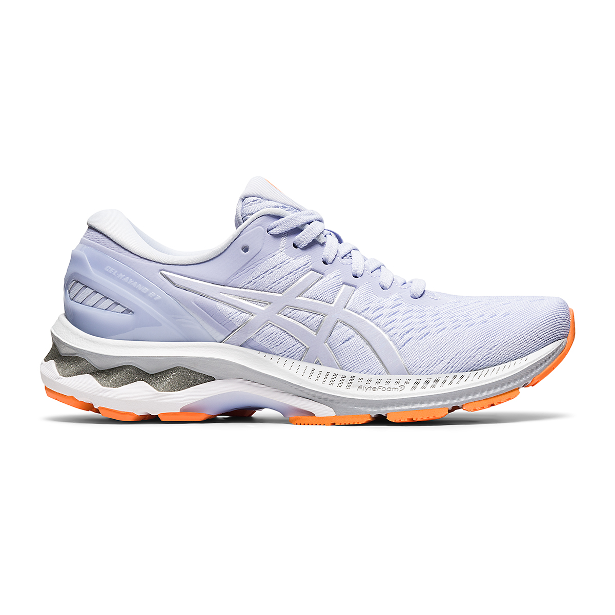 Women's Asics GEL-Kayano 27 Running Shoe - Color: Lilac Opal/Pure Silver - Size: 6 - Width: Regular, Lilac Opal/Pure Silver, large, image 1