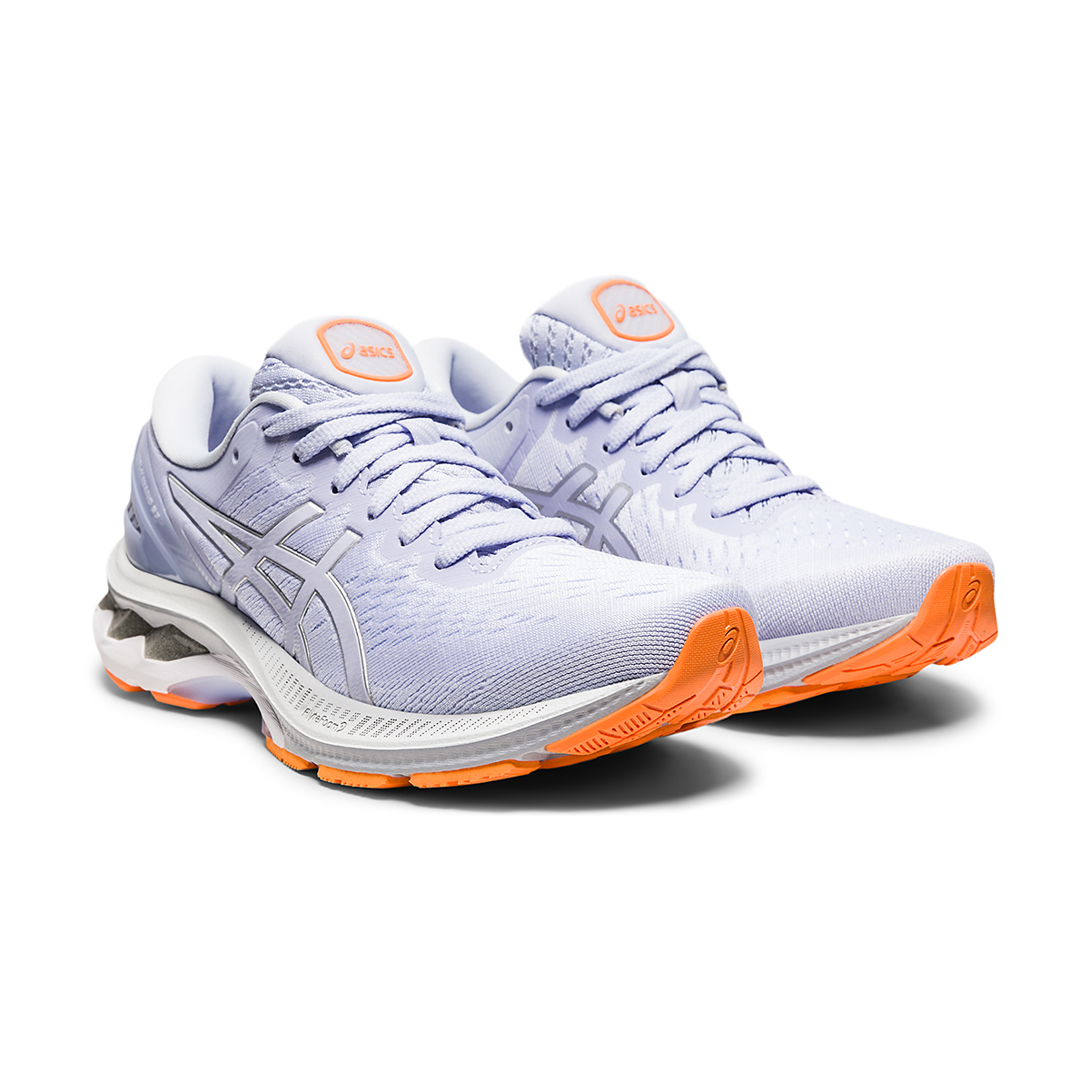 Women's Asics GEL-Kayano 27 Running Shoe - Color: Lilac Opal/Pure Silver - Size: 6 - Width: Regular, Lilac Opal/Pure Silver, large, image 3