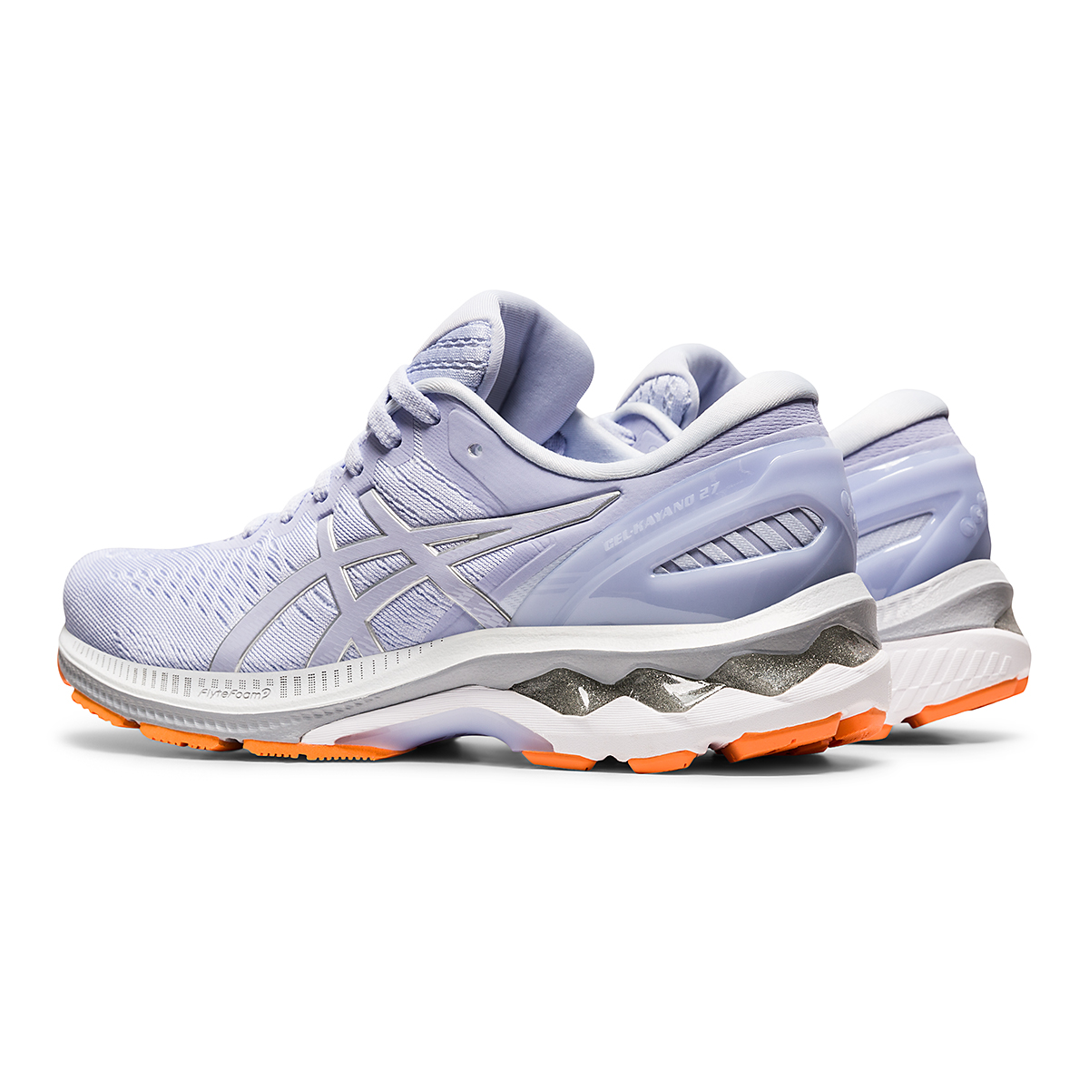 Women's Asics GEL-Kayano 27 Running Shoe - Color: Lilac Opal/Pure Silver - Size: 6 - Width: Regular, Lilac Opal/Pure Silver, large, image 4