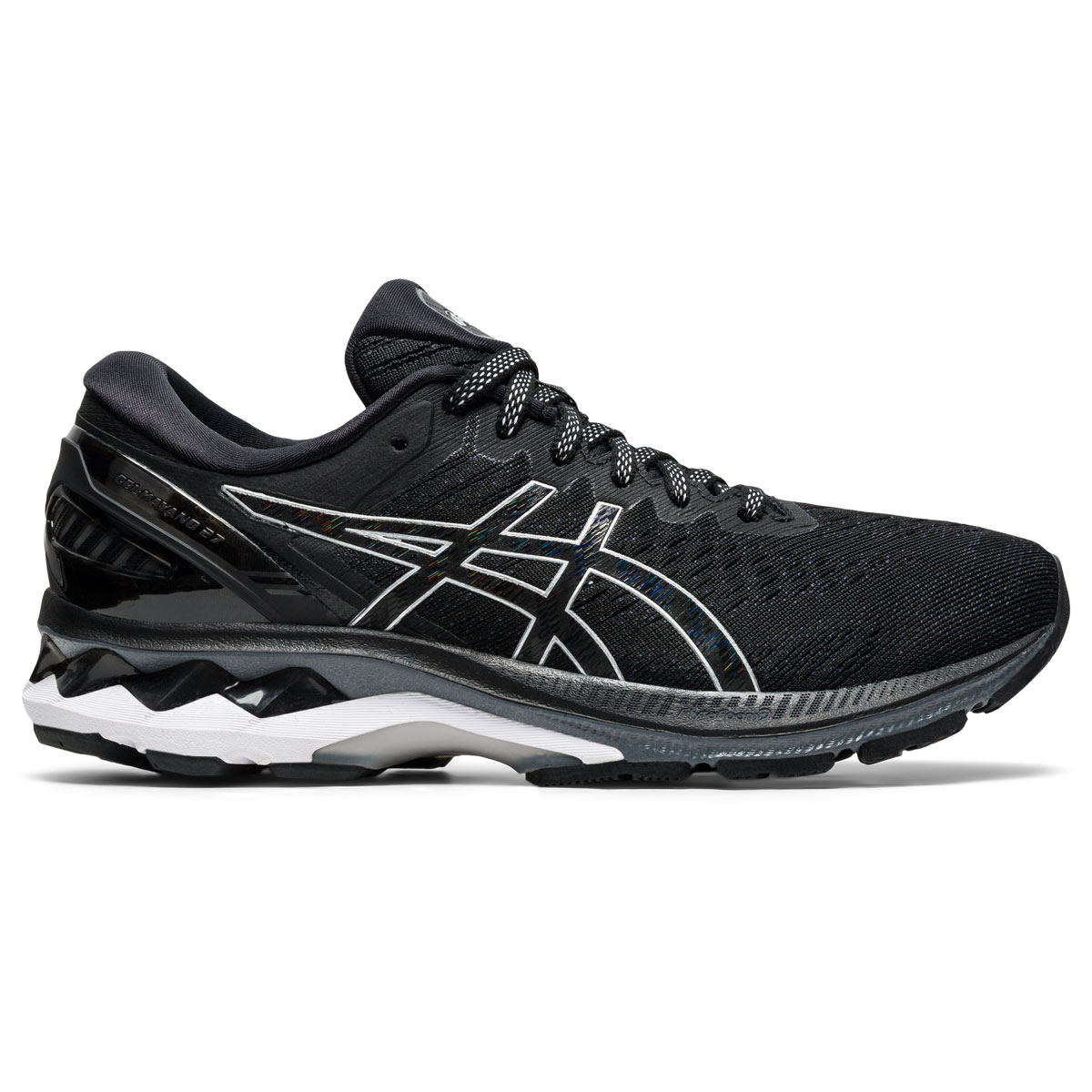Women's Asics GEL-Kayano 27 Running Shoe - Color: Black/Pure Silv (Regular Width) - Size: 5, Black/Pure Silv, large, image 1
