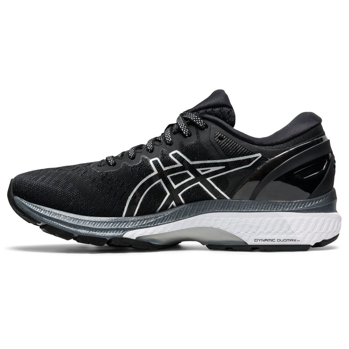 Women's Asics GEL-Kayano 27 Running Shoe - Color: Black/Pure Silv (Regular Width) - Size: 5, Black/Pure Silv, large, image 2