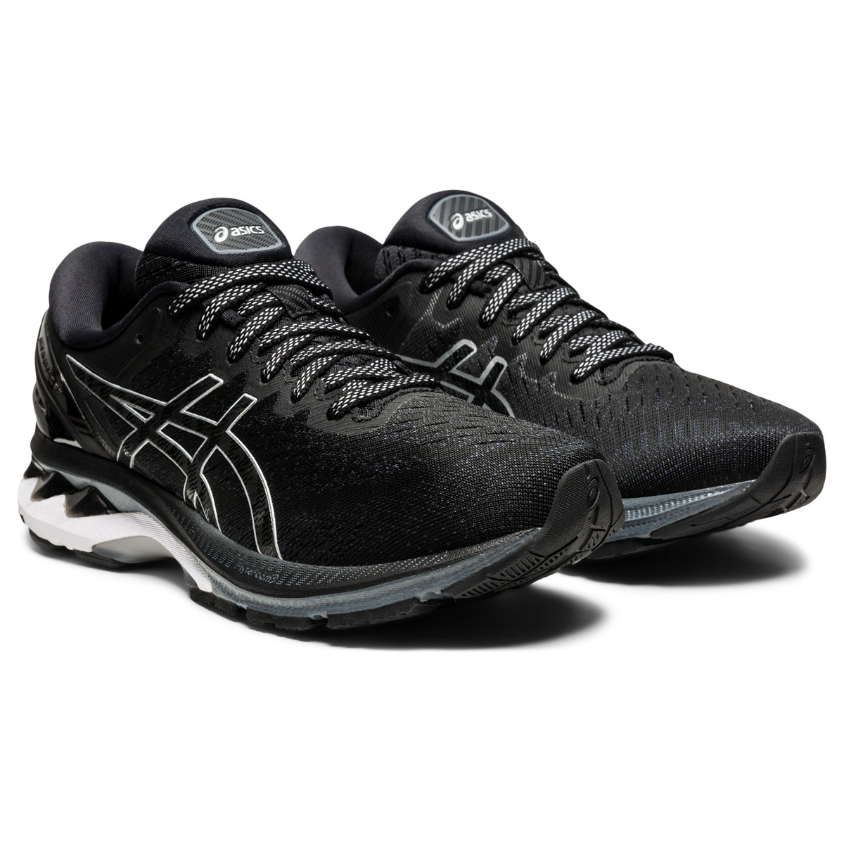 Women's Asics GEL-Kayano 27 Running Shoe - Color: Black/Pure Silv (Regular Width) - Size: 5, Black/Pure Silv, large, image 3