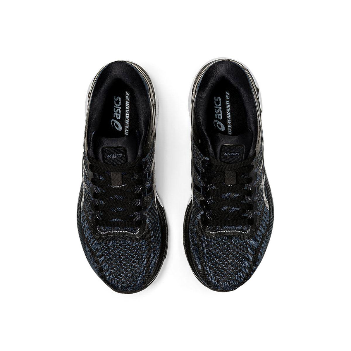 Women's Asics GEL-Kayano 27 Running Shoe - Color: Black/Pure Silv (Regular Width) - Size: 5, Black/Pure Silv, large, image 6