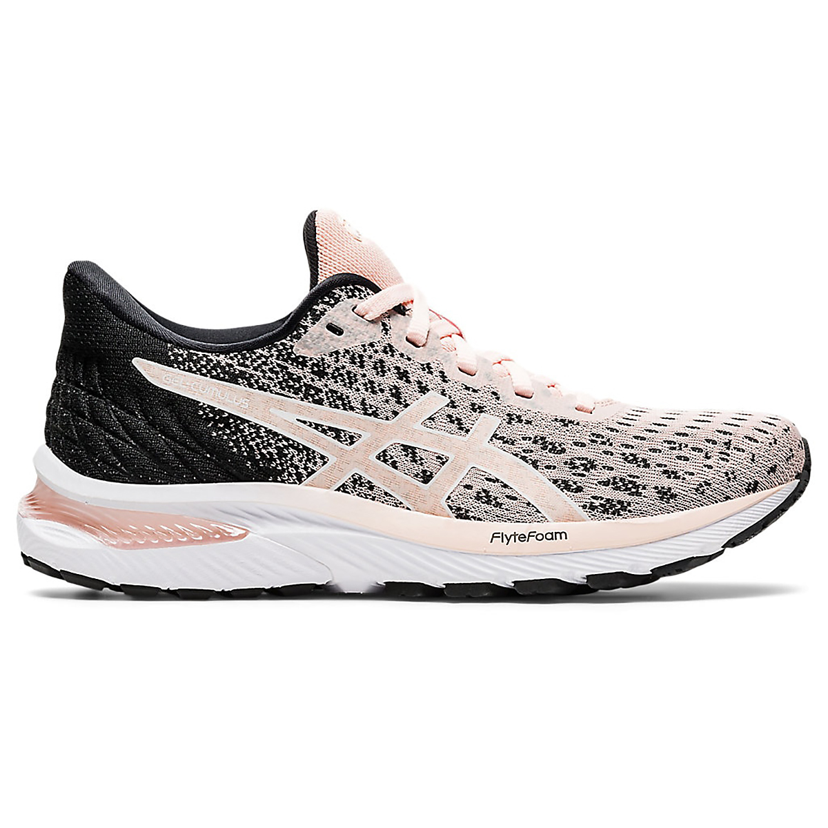Women's Asics Gel-Cumulus 22 Knit Running Shoe - Color: Breeze/Black - Size: 5 - Width: Regular, Breeze/Black, large, image 1