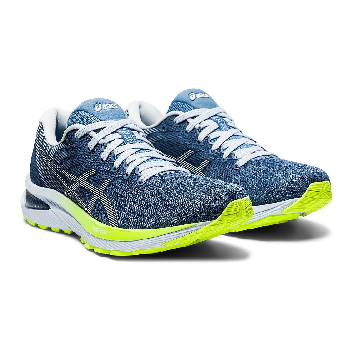 Women's Asics GEL-Cumulus 22 Running Shoe - Color: Grey Floss/White - Size: 6 - Width: Regular, Grey Floss/White, large, image 3