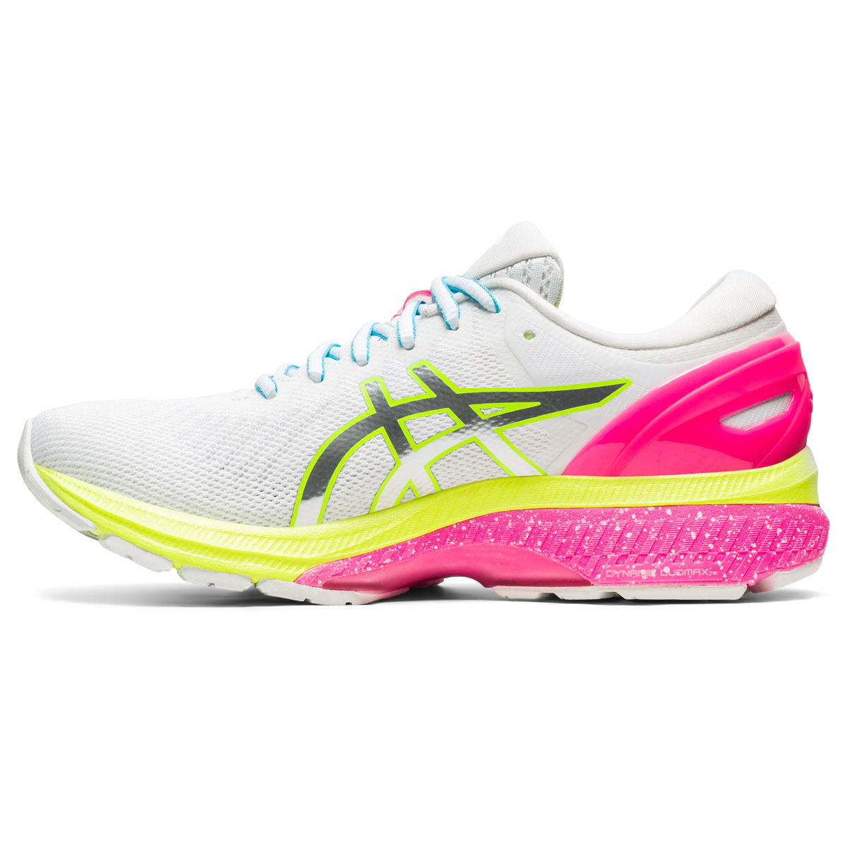 Women's Asics GEL-Kayano 27 Lite-Show Running Shoe - Color: White/Pure Silv (Regular Width) - Size: 5, White/Pure Silver, large, image 2