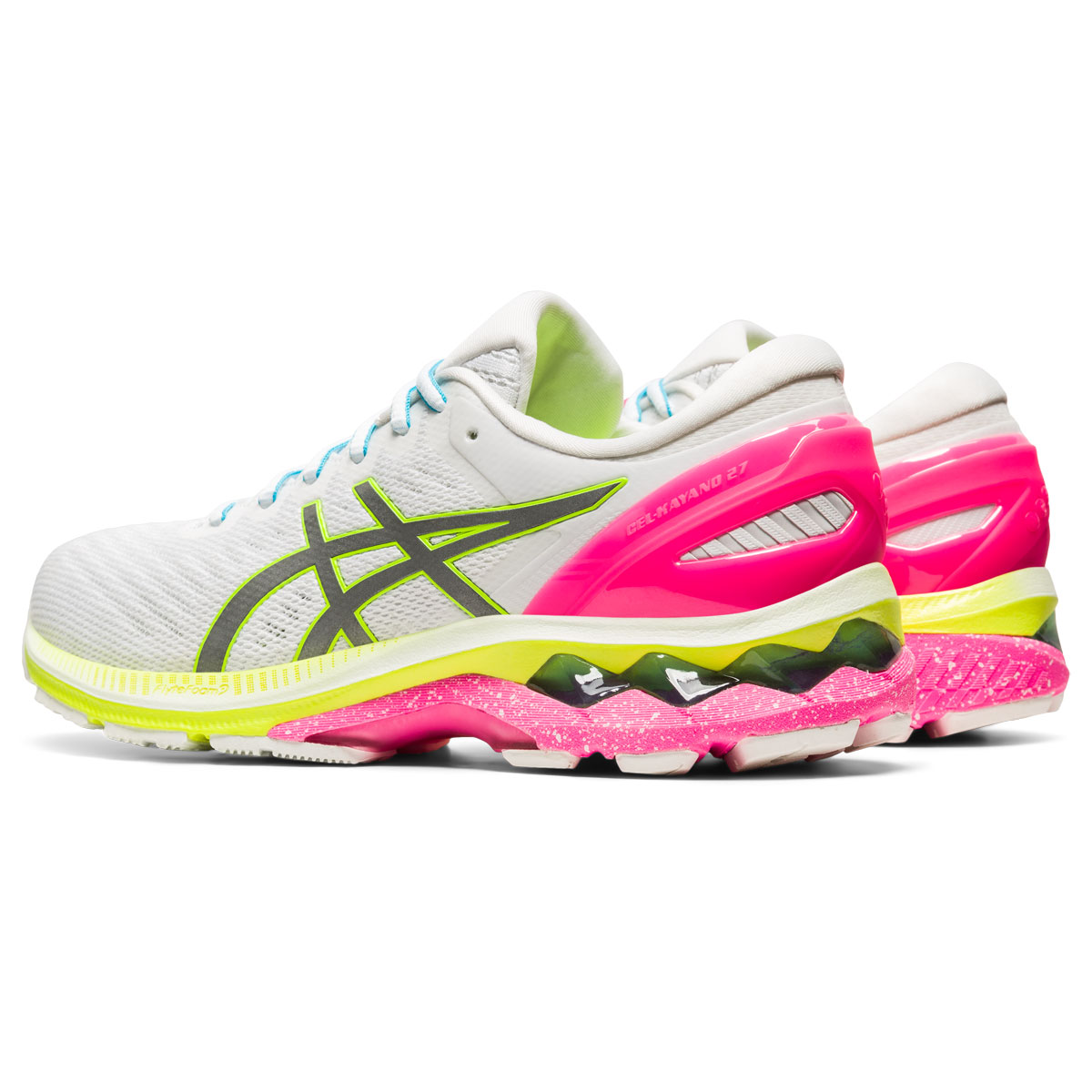 Women's Asics GEL-Kayano 27 Lite-Show Running Shoe - Color: White/Pure Silv (Regular Width) - Size: 5, White/Pure Silver, large, image 4