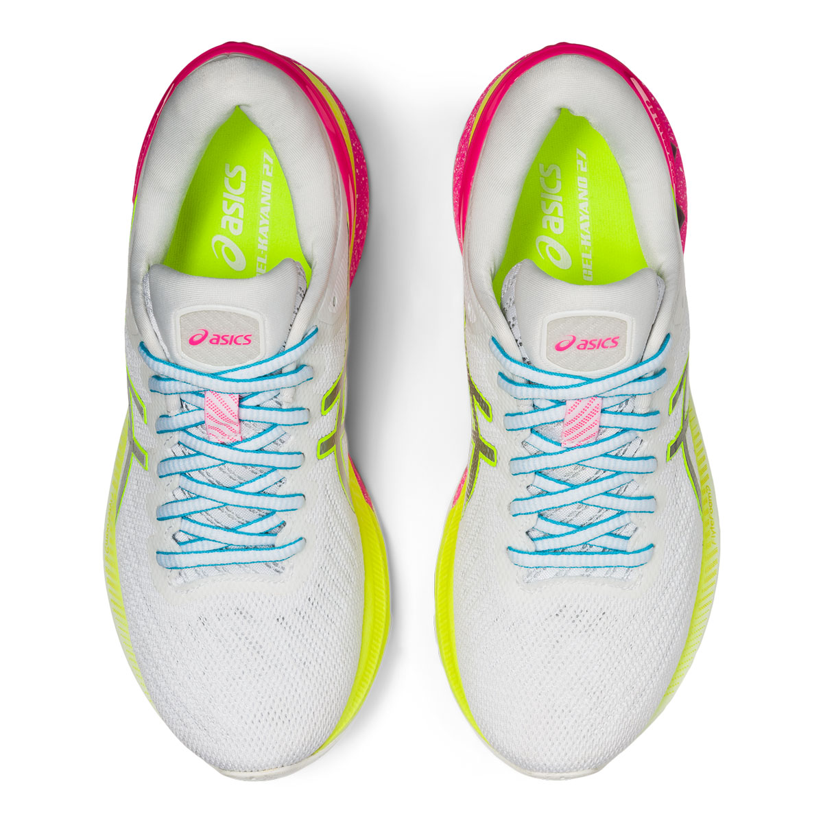 Women's Asics GEL-Kayano 27 Lite-Show Running Shoe - Color: White/Pure Silv (Regular Width) - Size: 5, White/Pure Silver, large, image 6