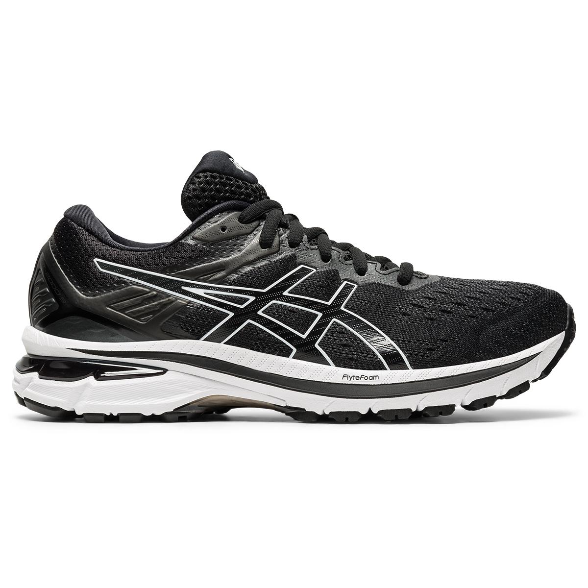 Women's Asics Gt-2000 9 Running Shoe - Color: Black/White - Size: 5 - Width: Regular, Black/White, large, image 1
