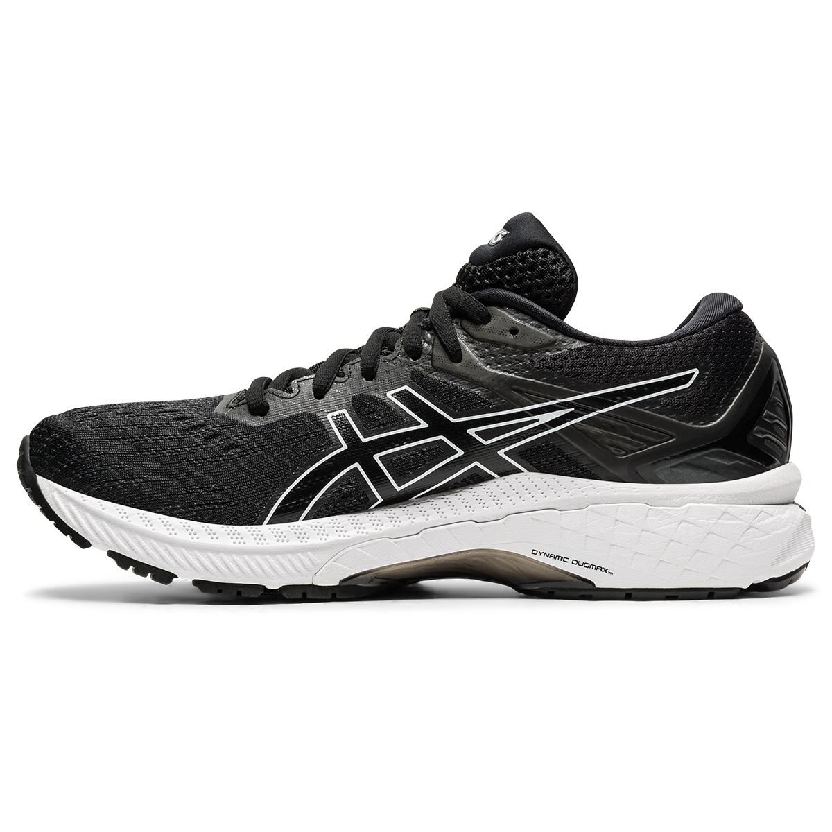 Women's Asics Gt-2000 9 Running Shoe - Color: Black/White - Size: 5 - Width: Regular, Black/White, large, image 2