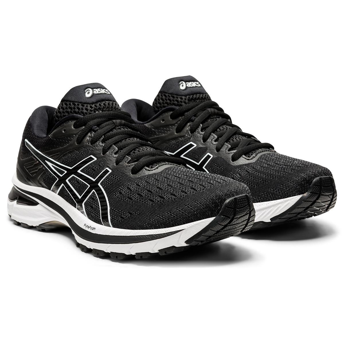 Women's Asics Gt-2000 9 Running Shoe - Color: Black/White - Size: 5 - Width: Regular, Black/White, large, image 3
