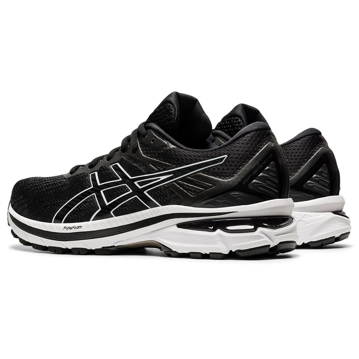 Women's Asics Gt-2000 9 Running Shoe - Color: Black/White - Size: 5 - Width: Regular, Black/White, large, image 4