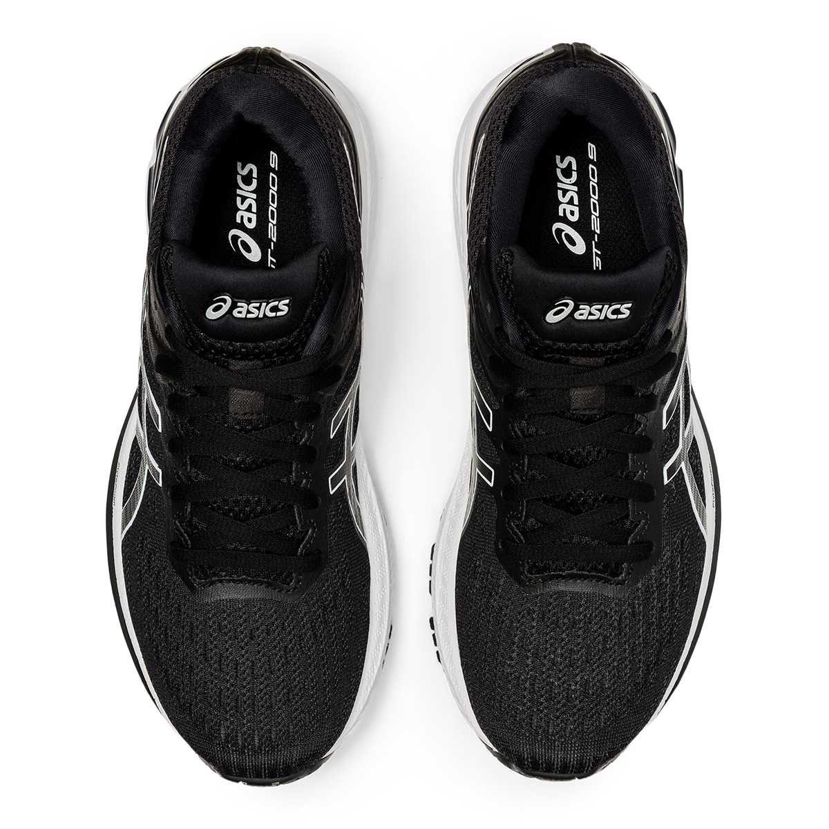 Women's Asics Gt-2000 9 Running Shoe - Color: Black/White - Size: 5 - Width: Regular, Black/White, large, image 5