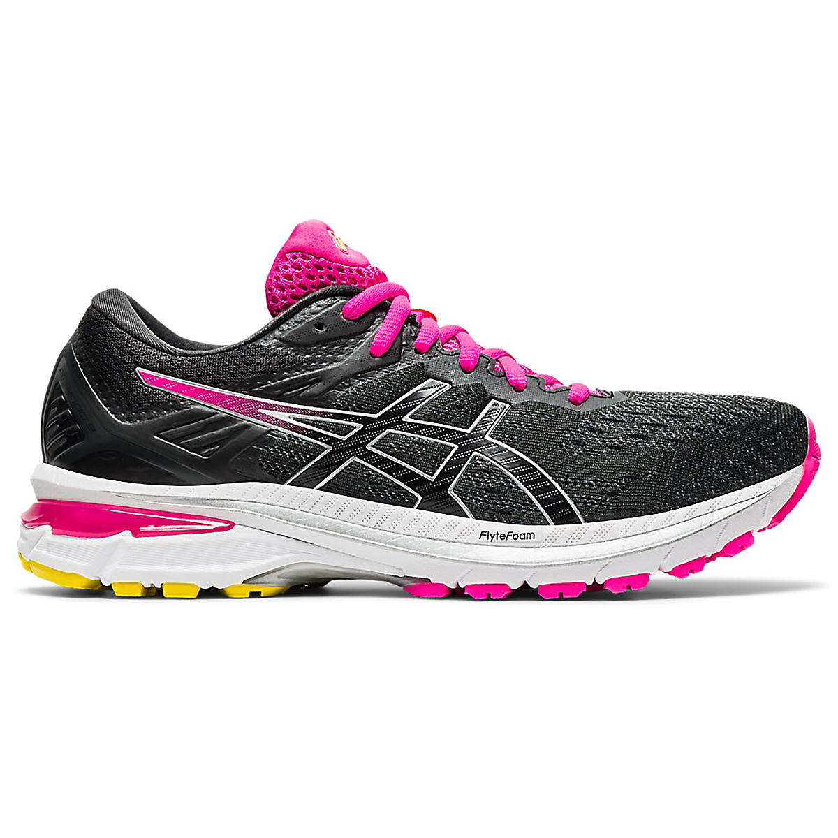 Women's Asics GT-2000 9 Running Shoe - Color: Graphite Grey/Black - Size: 5 - Width: Regular, Graphite Grey/Black, large, image 1